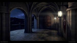Fantasy Castle Night by djsaman