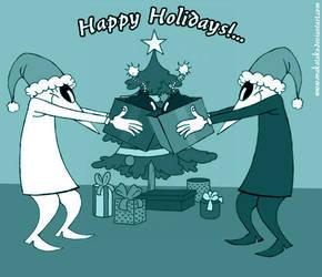 Spy Vs Spy Happy Holidays by MAKATAKO
