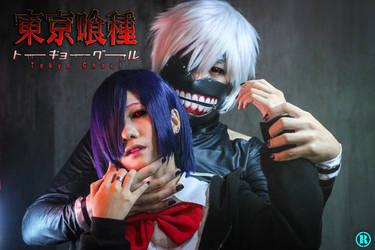 Touka X Kaneki - Dark Embrace by Hisui-Facist