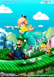 (Fanart) Luigi and Rosalina by Elinewton