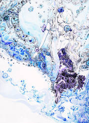 Aqua snake by chaamal