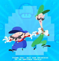 Mario and Luigi by DanSchoening