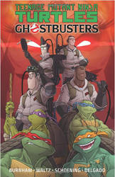 TMNT Ghostbusters Trade Paperback Cover by DanSchoening