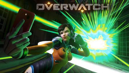 Overwatch D.VA  Selfie by blueMALOU
