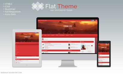 Flat SMF Responsive Theme by Boban031