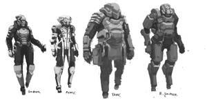 4 marines by onestepart