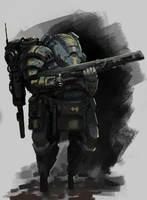Heavy armor by onestepart