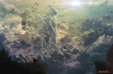 Titan in the clouds. by JaMmanfre