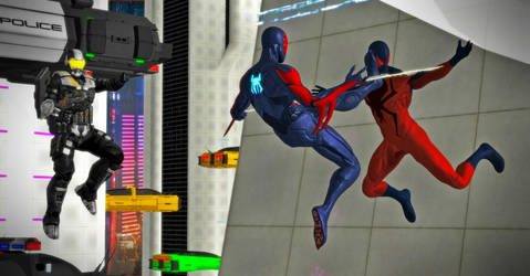 Spider-Man Shattered Dimensions - 2099 by WildGold