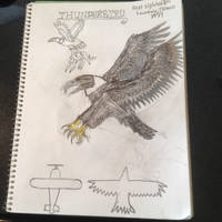 Cryptid Sketch: Thunderbird (Updated) by Strikerprime