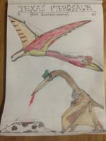 Cryptid Sketch: Texas Pterosaur AKA Quetzalcoatlus by Strikerprime