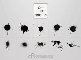 10 High-Res Drops and Splashes Brushes by FakeFebruary