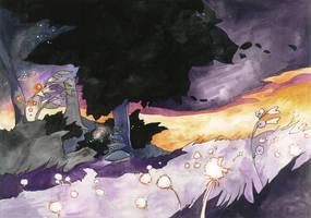Last purple sky by GreenSprite