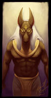 Egyptian God of Embalming by NoSafeHaven