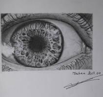 Eye Drawing by Miasaya