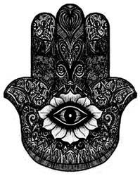 Evil Hamsa Eye by ElectricRoseShade