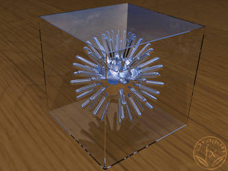 3D thing in a crystal box by DragoN-FX