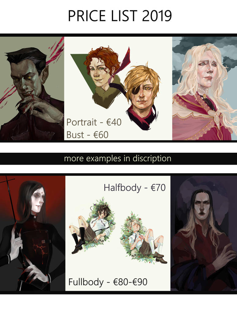 Commissions OPEN. Price list 2019 by Dzeth
