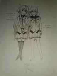 Eri x Female Rutsu by RutsuTayurushi