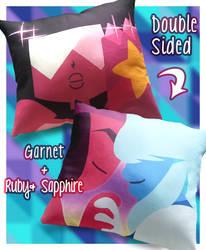 Steven Universe Pillow - Garnet, Ruby, Sapphire by Poiizu