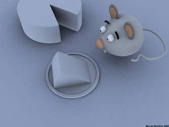 Monty the Mouse Eating Cheese by MurrayH
