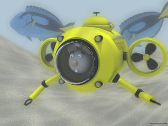 Monty underwater by MurrayH