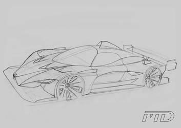 Ferrari LM concept sketch by Morfiuss
