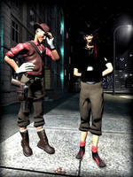 Ares and City Scout by DarkSinAura