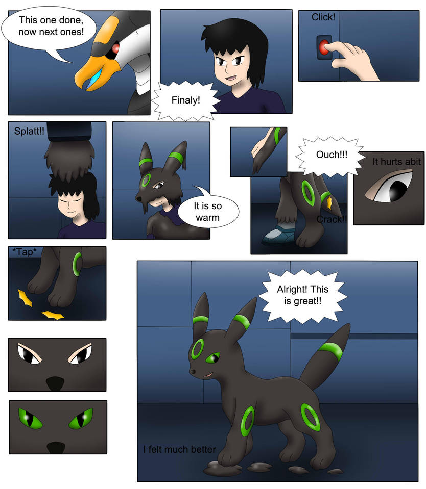 Comission: Umbreon TF TG by Avianine on DeviantArt