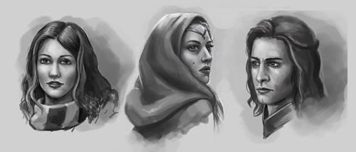 Portraites sketches by Lanfirka