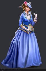 Victorian lady by Lanfirka