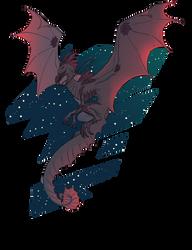 It flies through space by Aazure-Dragon