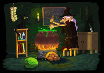 Witch Workshop by gokiman
