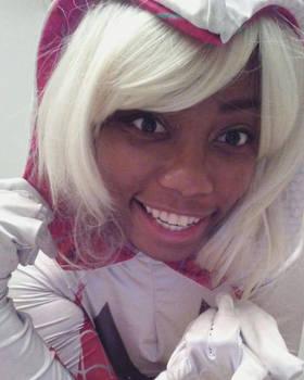 Spider Gwen smile love!~ by Ninjagirl9