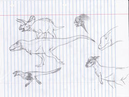 Free hand Sketches by r-heinart