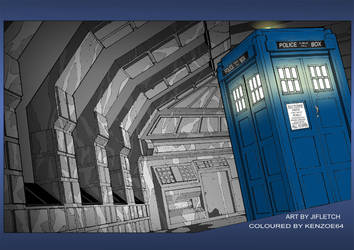 Coloured in Tardis by Kenzoe64