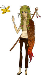 Elijah- my wood elf druid by zestyspook