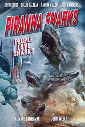 Piranha Sharks Poster 2 by nato2469
