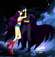 Batman and Wonder Woman by Dee-Linquent