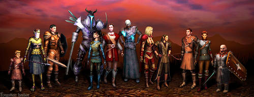 All heroes of Neverwinter by forgottenharbor