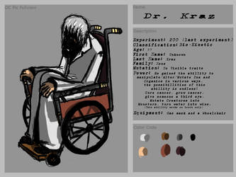 Dr Kraz Ref Sheet by CheesedoodleScare