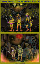 Before and after Ultimate Chica by Uitinla