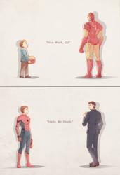 Spider Man : Homecoming and Iron Man 2 by Mushstone