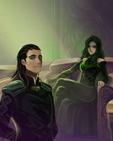 Thor 3 Ragnarok : Hela and Loki by Mushstone