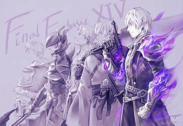 FINAL FANTASY XIV : Warriors of light by Mushstone