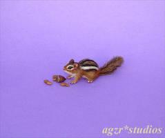 Ooak miniature Eastern Chipmunk Squirrel 1:12 by AGZR-STUDIOS