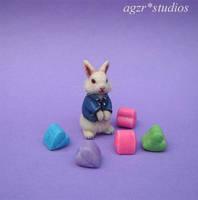 Ooak Handmade Miniature Bunny 1:12 by AGZR-STUDIOS