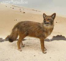 Ooak 1:12 Handmade Miniature furred Coyote by AGZR-STUDIOS