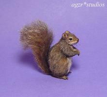 Ooak 1:12 Grey Squirrel handmade furred by AGZR-STUDIOS