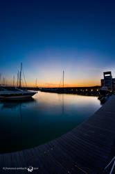 Sunset over the harbor by stregatt0